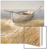 Shoreline Boat Wood Print by Arnie Fisk