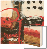 Abstract Dots Wood Print by Natasha Barnes