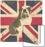 British Bulldog Wood Print by Sam Appleman
