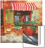 Napa Bistro Wood Print by David Lloyd Glover