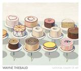 Cakes, 1963 Plakater af Wayne Thiebaud