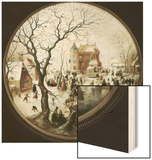 A Winter Scene with Skaters Near a Castle Wood Print by Hendrik Avercamp