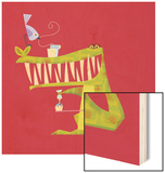 Crocodile brushing his teeth Wood Print by Harry Briggs