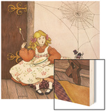 Little Miss Muffett Wood Print