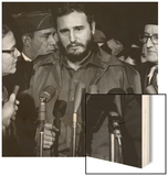 Fidel Castro arrives at MATS Terminal, Washington, D.C., c.1959 Wood Sign