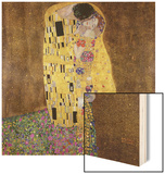The Kiss Wood Sign by Gustav Klimt