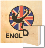 England Soccer Wood Print