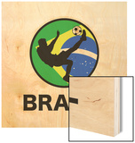 Brazil Soccer Wood Print