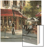 Bistro Waiters Wood Print by Brent Heighton
