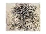 Study of Trees Giclée-tryk af Piet Mondrian