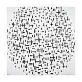 Composition in Line, 1917 Giclée-trykk av Piet Mondrian