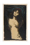 Madonna (Conception), 1895-1914 Lámina giclée por Edvard Munch