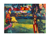 Murnau, 1909 Gicléetryck av Wassily Kandinsky