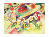 Watercolour with a Red Stain, 1911 Lámina giclée por Wassily Kandinsky