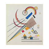 With the Triangle (W/C and Gouache) Giclée-tryk af Wassily Kandinsky