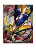 Angel of Judgment; Engel Des Jungsten Gerichts, C.1911 Giclée-tryk af Wassily Kandinsky