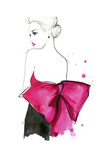 Pink Bow Poster by Jessica Durrant
