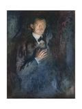 Self Portrait with Cigarette, 1895 Gicléetryck av Edvard Munch