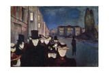Evening on Karl Johan Street, 1892 Lámina giclée por Edvard Munch