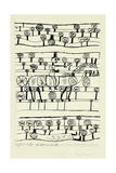 Pictography; Bilder Inschrift, 1920 Giclée-tryk af Paul Klee
