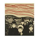 Anxiety; Angstgefuhl (Sch.61 B II), 1896 Giclee-trykk av Edvard Munch