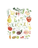 Eat Local Posters by Lucile Prache