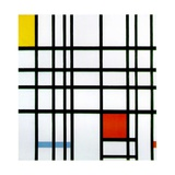 Composition with Red, Yellow and Blue, 1921 Giclée-trykk av Piet Mondrian