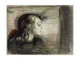 The Sick Girl; Das Kranke Madchen, 1896 Giclée-tryk af Edvard Munch