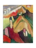 Case a Murnau, 1908 Stampa giclée di Wassily Kandinsky