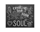 Cooking With Love Provides Food For The Soul Posters