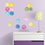Watercolor Dots Peel and Stick Wall Decals Wall Decal