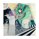 Green Composition, 1923 Gicléetryck av Wassily Kandinsky