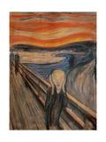 El grito, 1893 Lámina giclée por Edvard Munch