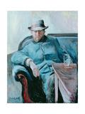 Portrait of Hans Jaeger, 1889 Gicléetryck av Edvard Munch