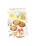 Chocolate Chip Cookies Recipe Posters by Lucile Prache