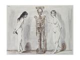 The Two Girls and the Skeleton; Die Beiden Madchen Und Das Gerippe, 1896 Giclée-vedos tekijänä Edvard Munch