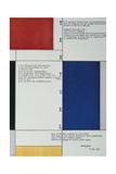 Tableau Poeme, 1928 Giclee-trykk av Piet Mondrian