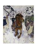 Galloping Horse, 1910 Giclee-trykk av Edvard Munch