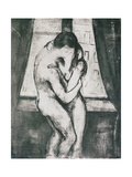 The Kiss, 1895 Gicléetryck av Edvard Munch
