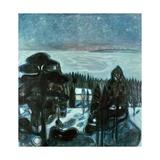A White Night Giclee-trykk av Edvard Munch
