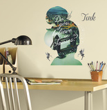 Tinker Bell Silhouette Mega Peel and Stick Giant Wall Graphix Wall Decal