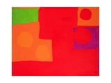 Two Vermillions, Green and Purple in Red: March 1965 Giclee Print by Patrick Heron