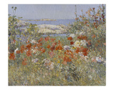 Celia Thaxter's Garden, Isles of Shoals, Maine, 1890 Posters by Childe Hassam