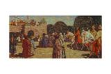 Sunday, Old Russia, 1904 Lámina giclée por Wassily Kandinsky