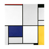 Tableau 1, with Red, Black, Blue and Yellow, 1921 Giclee-trykk av Piet Mondrian