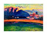 Murnau, 1907 Gicléetryck av Wassily Kandinsky