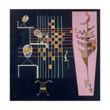 The Three Ovals, 1942 Lámina giclée por Wassily Kandinsky