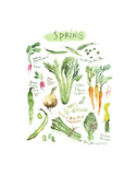 Spring Vegetables Art by Lucile Prache