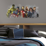 Avengers: Age of Ultron Distressed Peel and Stick Giant Wall Graphix Wall Decal
