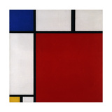 Composition with Red, Blue and Yellow, 1930 Giclee-trykk av Piet Mondrian